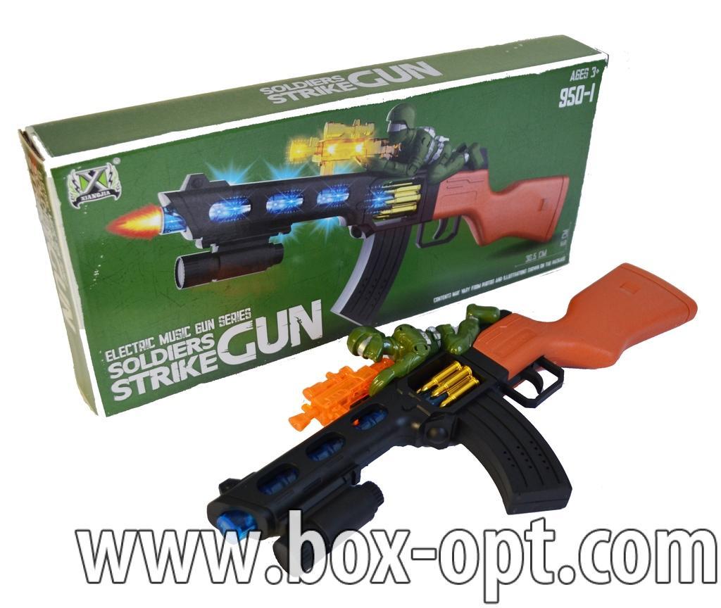Автомат Solders Strike Gun (музыкальный светящийся)