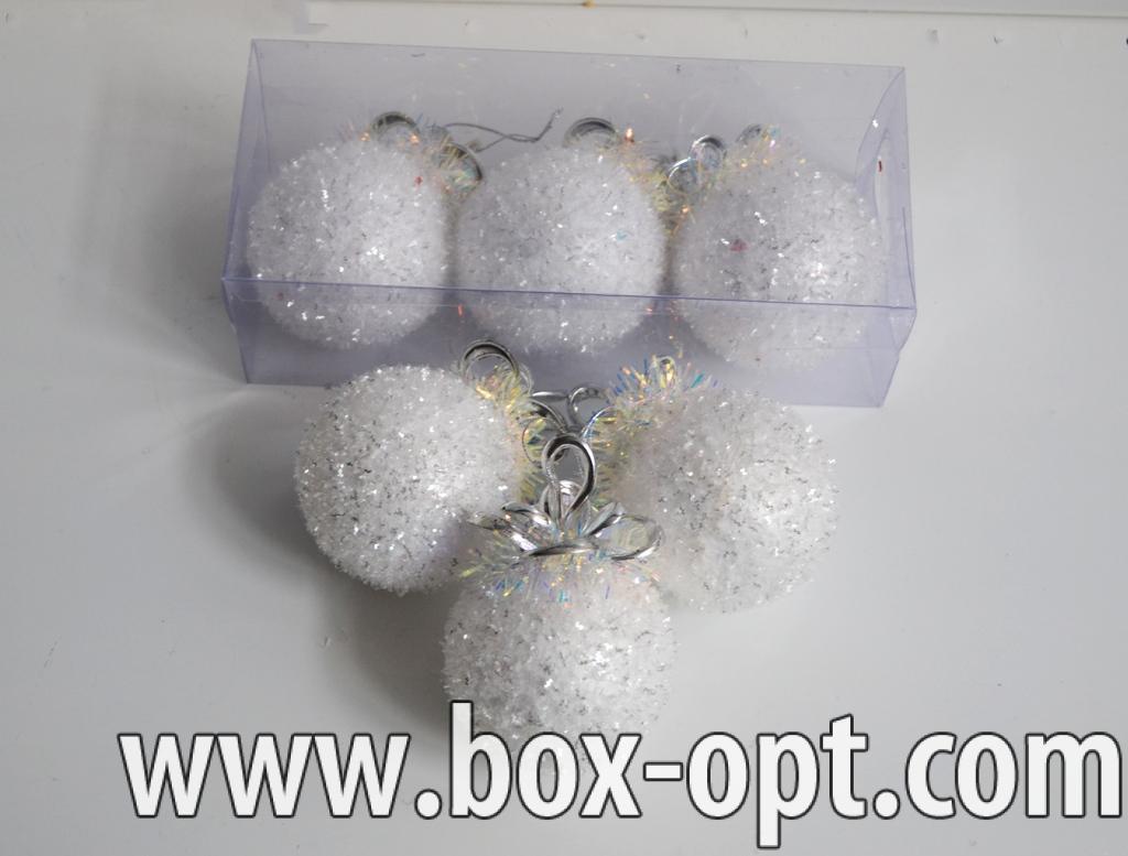 Елочная игрушка (шар дождик кокос белые 070610)