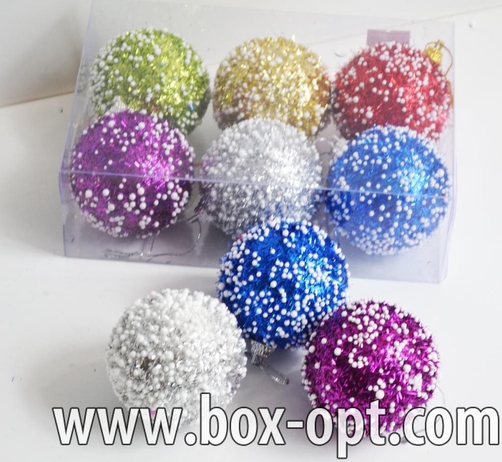 Елочная игрушка (шар дождик со снегом 726373)