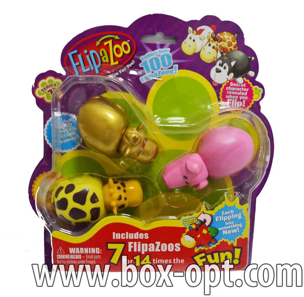 Герои на блистере FlipaZoo (3 фигурки)