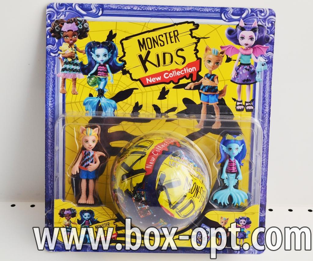 Игрушка Monster Kids (две фигурки и шар)