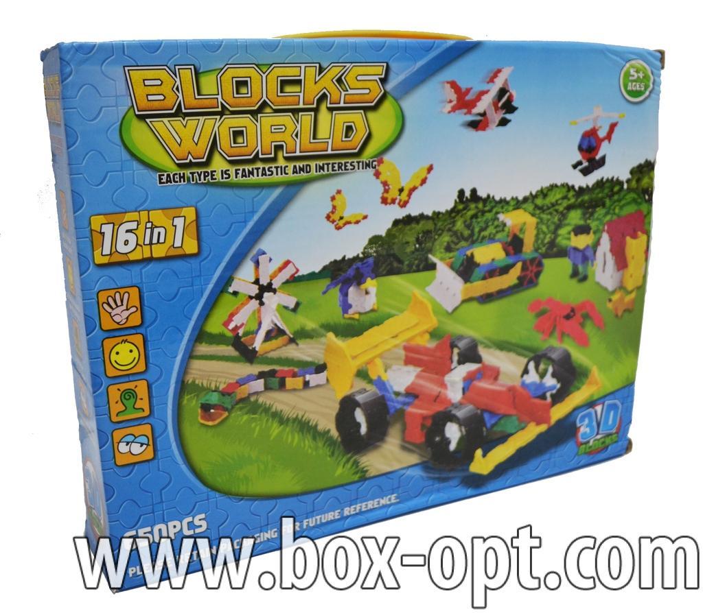 Конструктор 3D Blocks World 16in1 (650 PCS)