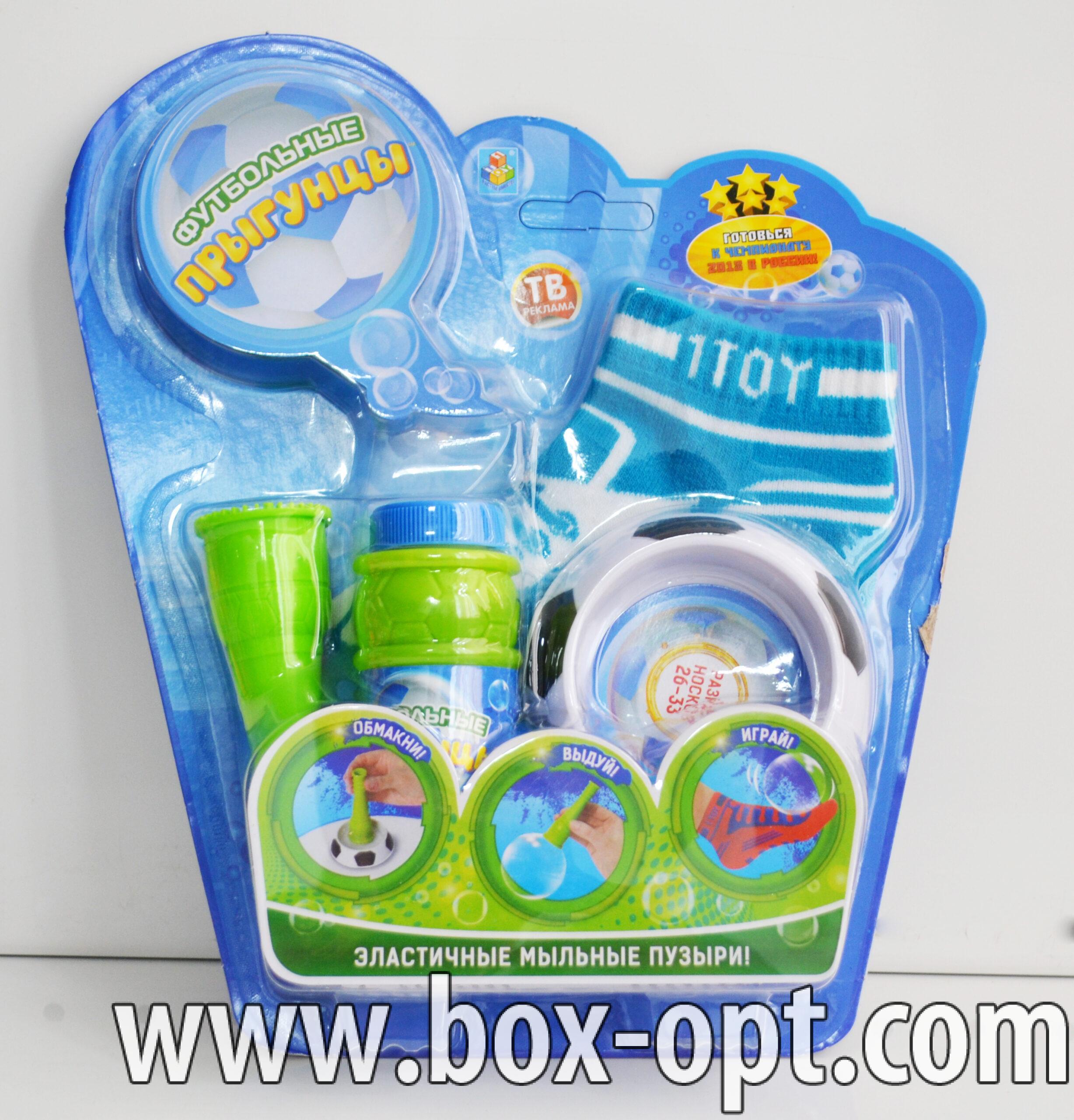 Мыльные пузыри Футбольные Прыгунцы (пузыри с носками)