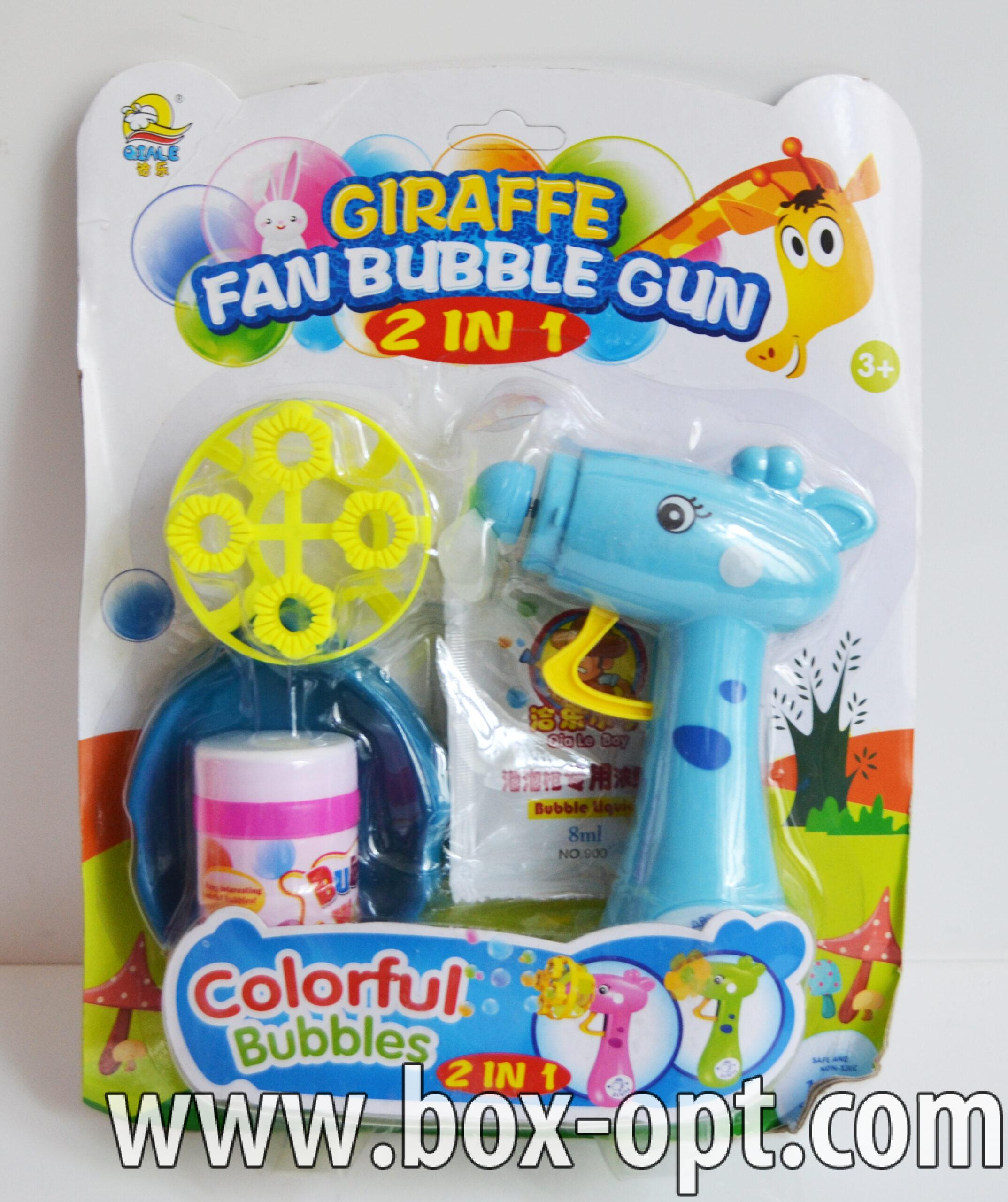 Мыльные пузыри Giraffe Fan Bubble Gun (с раствором)