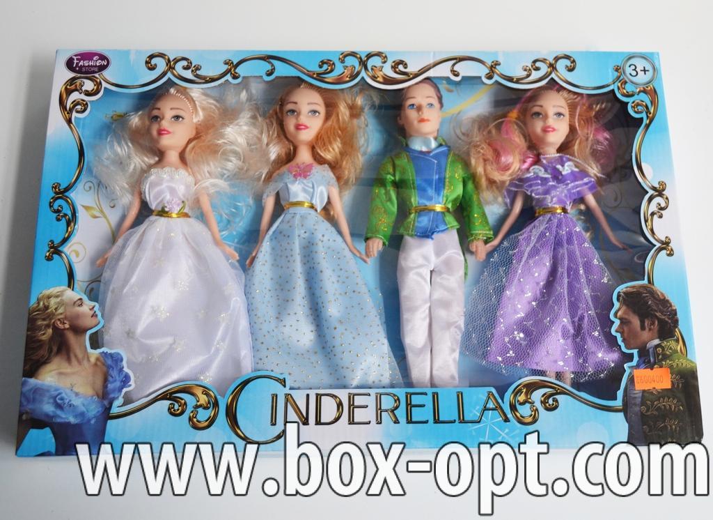 Набор cinderella (4 куклы в коробке)