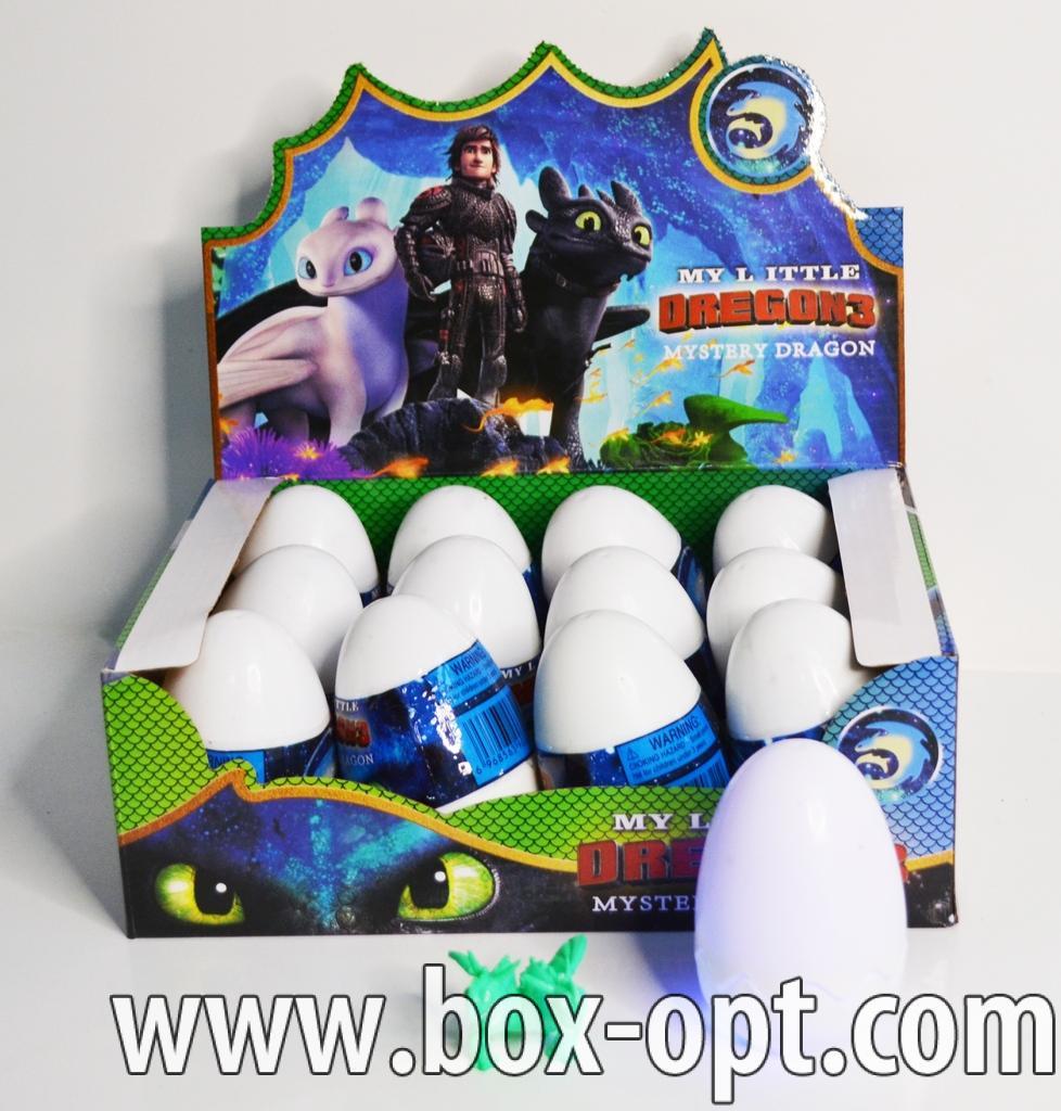 Пластиковое яйцо Dragon 3 (светящиееся)