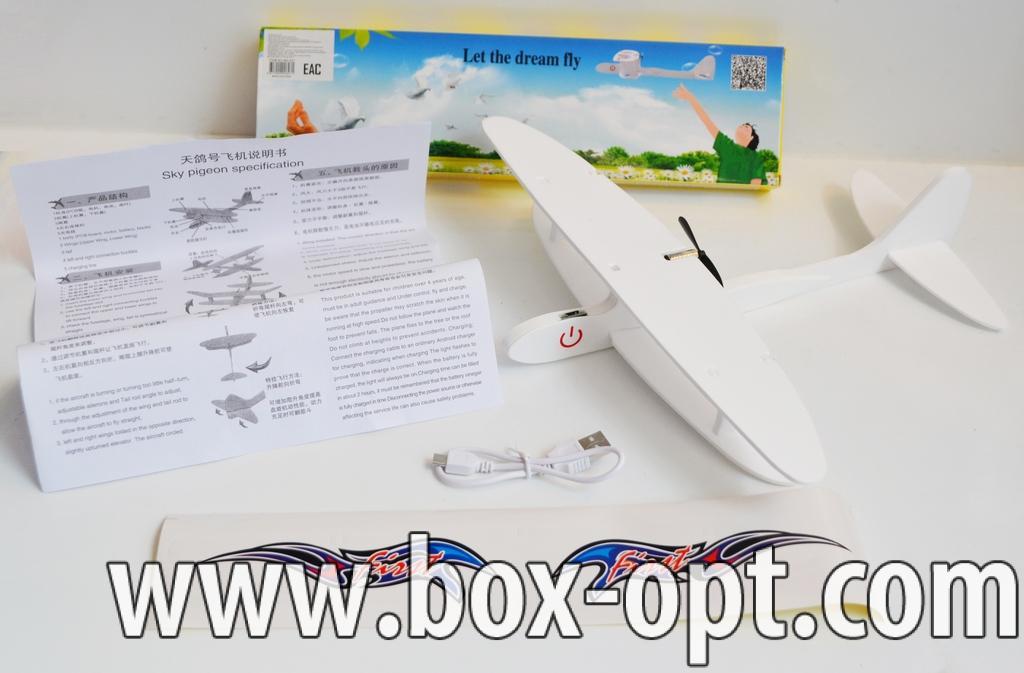 Самолет-запускалка с электромотором (USB зарядка)