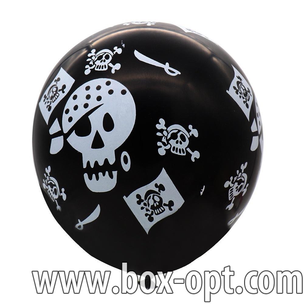 Воздушные Шары Baimei Черные Шар Пираты (100 PCS) (в пакете)