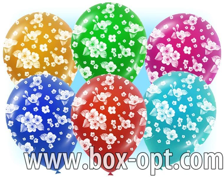 Воздушные Шары Цветные в Цветочек Happy Everyday (100 PCS) (в пакете)