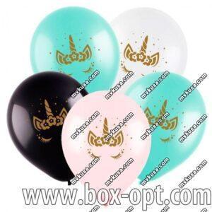 Воздушные Шары Единорог Цветные Party Pack (100 PCS) (в пакете)