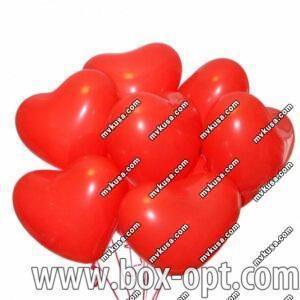 Воздушные Шары Globos Красные Сердечки (100 PCS) (в пакете)